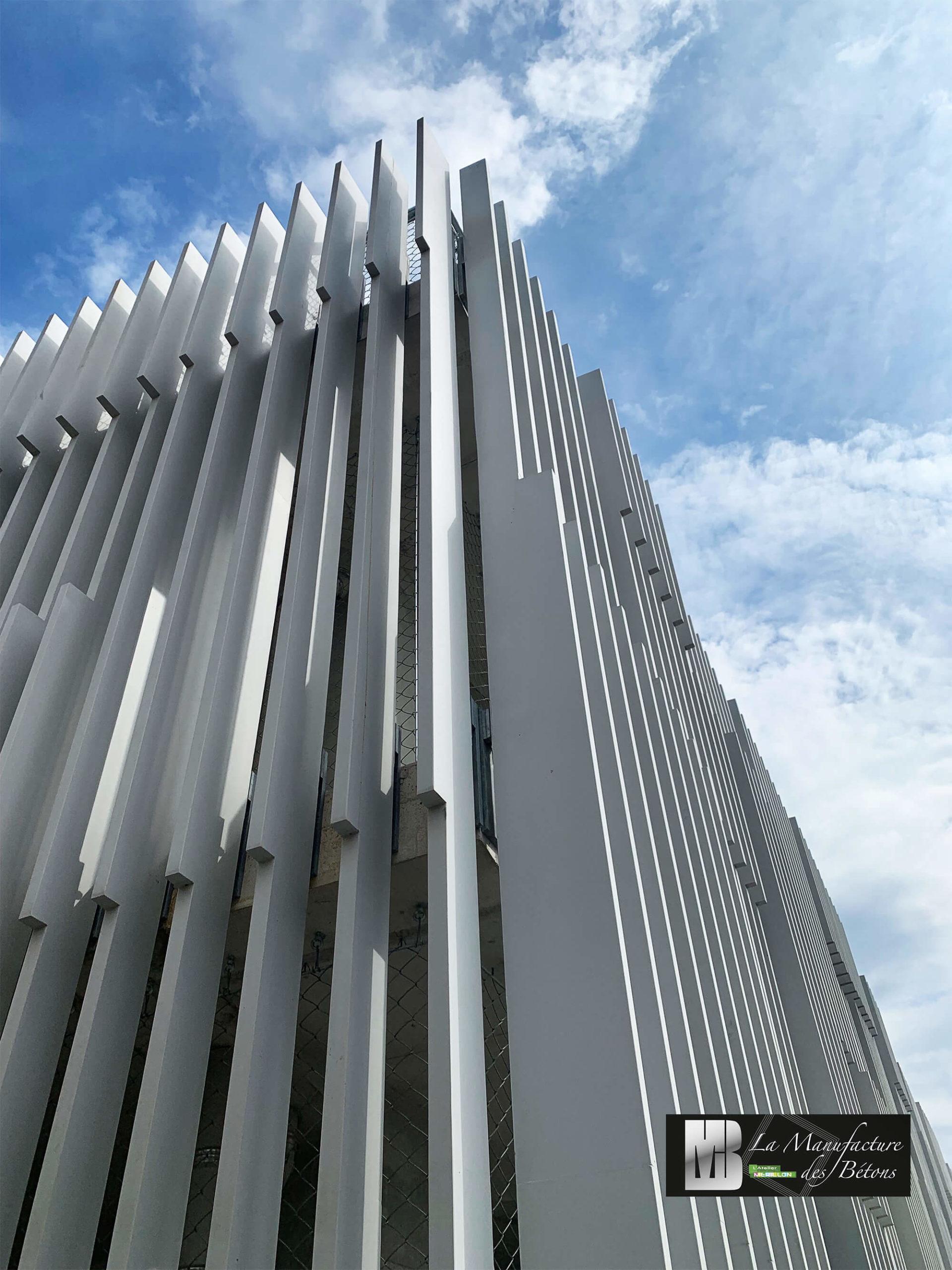 Lames de façade en béton architectonique