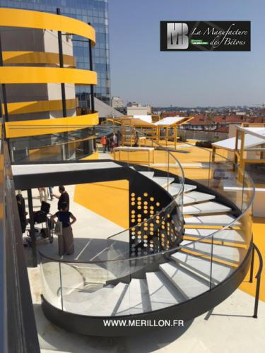 Escaliers parking - La Manufacture des Bétons