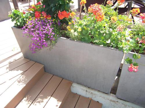 jardinière en béton rectangulaire - La Manufacture des Bétons