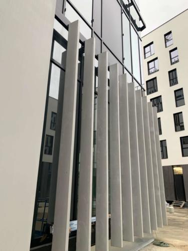 Parement façade Manufacture des BétonsJardins de la ChasseCentre administratif Etterbeek