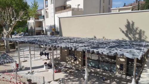 Patio résille en BFUP - La Manufacture des bétons