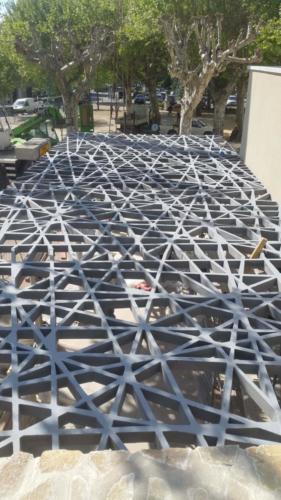 Panneau de 15m2-Patio résille en BFUP - La Manufacture des bétons